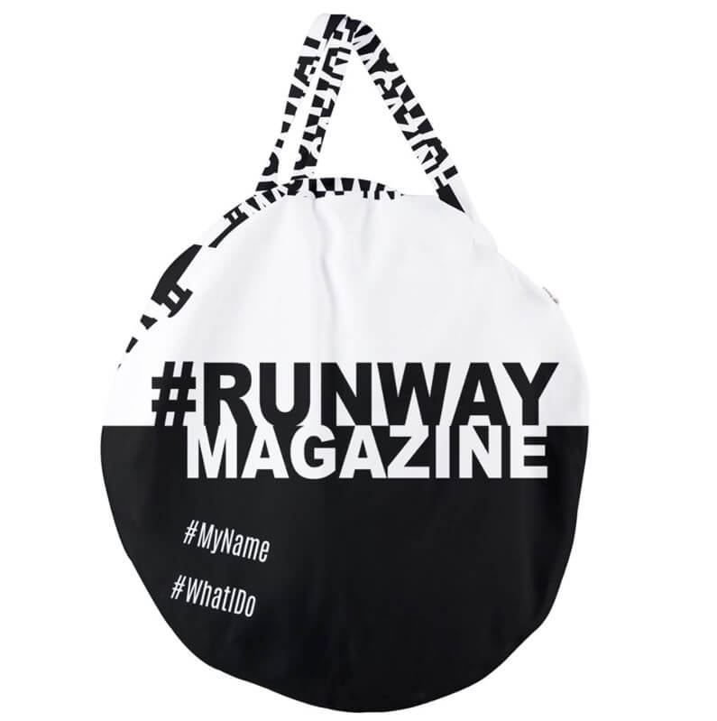 Black and white - My Hashtag on Runway Bag - Contemporary Collection